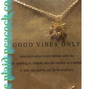 Good Vibes Only Necklace & Saying Card